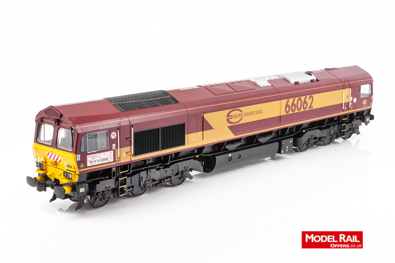 32-725W Bachmann Class 66 Diesel Locomotive number 66 062 in Euro Cargo Rail livery