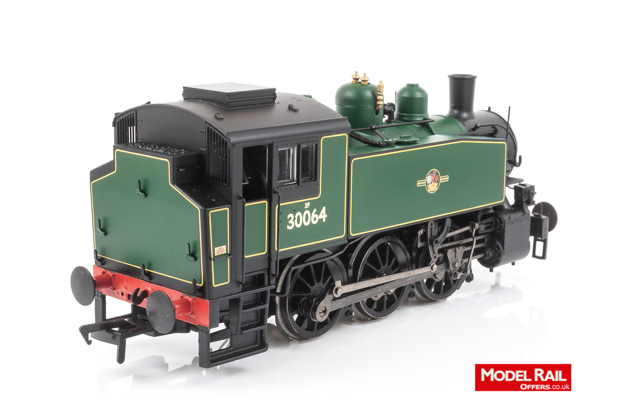 MR-104A Bachmann USA 0-6-0T Steam Locomotive number 30064 in BR Lined Malachite Green livery with late crest