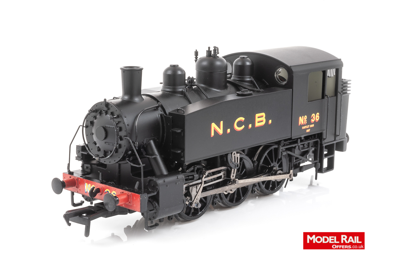 MR-107 Bachmann USA 0-6-0T Steam Locomotive number 36 in National Coal Board Black livery