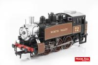 MR-108 Bachmann USA 0-6-0T Steam Locomotive number 72 in Keighley & Worth Valley Golden Ochre livery
