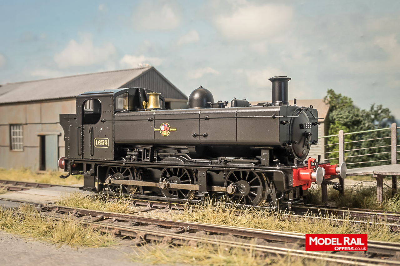 MR-304B Rapido Class 16XX Steam Locomotive number 1655 in BR Black with Late Crest.