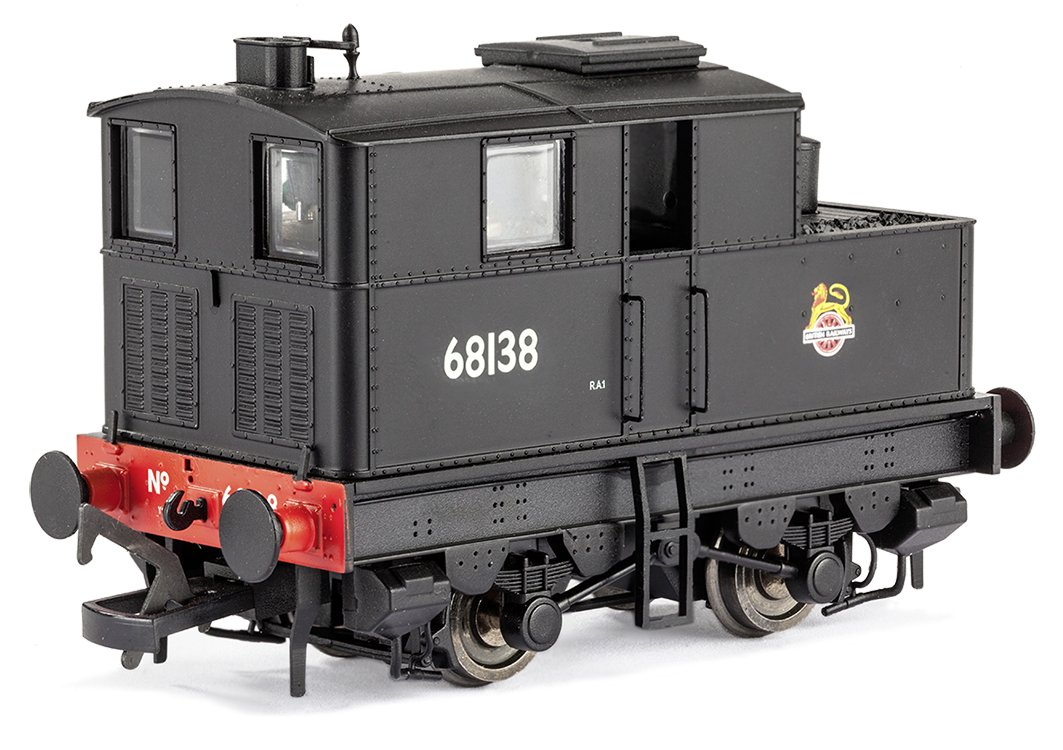 MR-014 Dapol Y1 Sentinel Steam Locomotive number 68138 in BR Black livery with early emblem