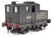 MR-016 Dapol Y3 Sentinel Steam Locomotive number 42 in BR Black livery with Civil Engineers Locomotive lettering