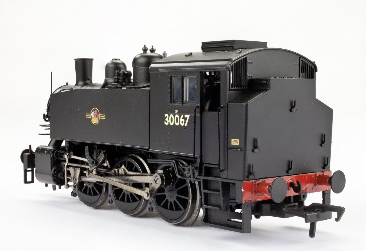 MR-109 Bachmann USA 0-6-0T Steam Locomotive number 30067 in BR Black livery with Late Crest